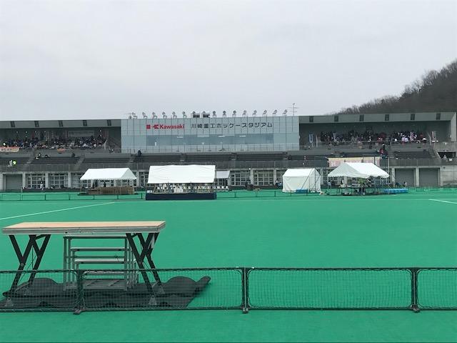 岐阜県各務原市で開催されるマラソン大会の会場の様子です。