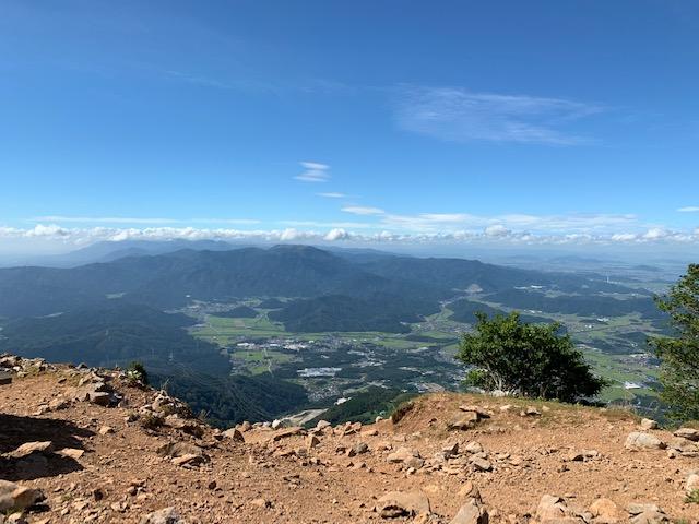 山頂からの改正の風景です。