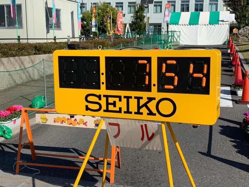 マラソンの記録測定用のタイマーで、フルマラソン用に使用したものの写真