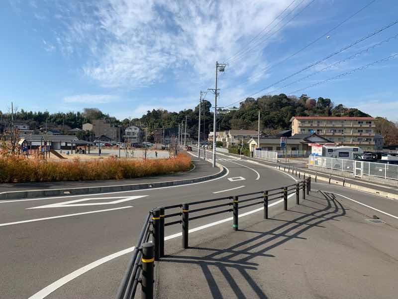 犬山ハーフマラソンのゴール地点の内田防災公園の写真です。大会当日はゴールゲートがあります。