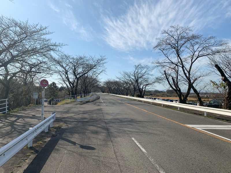 読売犬山ハーフマラソンのコースの様子です。13Km~14Km地点のコースの様子です。 右手に木曽川、伊木山が見えます。