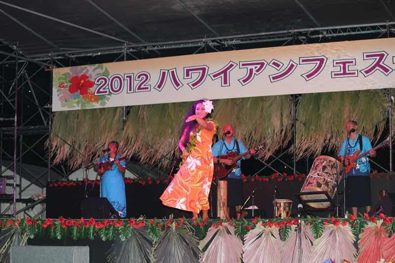 ハワイアンフェスティバルin吉良ワイキキビーチの様子の写真です。